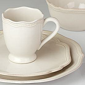 LENOX FRENCH PERLE BEAD WHITE Dinnerware