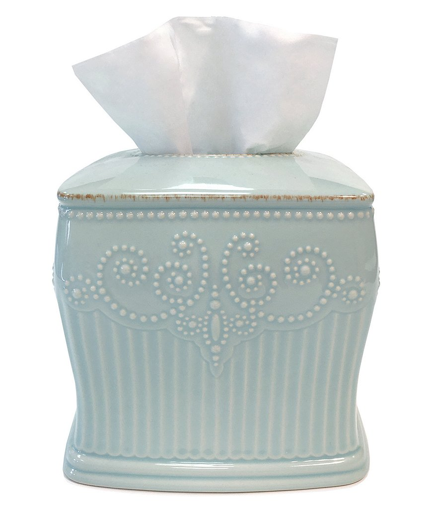 LENOX FRENCH PERLE GROOVE ICE BLUE
