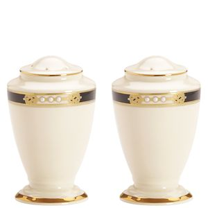Lenox  HANCOCK A/I DW SALT & PEPPER SHAKERS 3.4 h