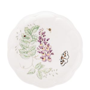 Lenox  BUTTERFLY MDW DW BL BTRFLY ACCENT PL 9.0 9.0 d