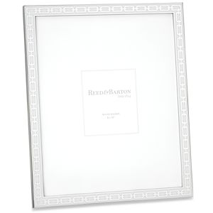 REED AND BARTON SILVER LINK FRAME 8X10 WHITE
