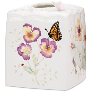 Lenox  BUTTERFLY MEADOW TISSUE HOLDER 6.0 h,5.25 d