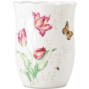 Lenox  BUTTERFLY MEADOW WASTE BASKET 10.25 h,7.75 d
