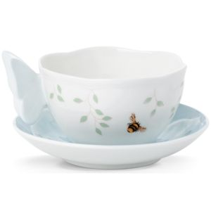 Lenox  BUTTERFLY MEADOW FIG BLU CUP & SCR 5.0 d,8 oz