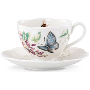 Lenox  BUTTERFLY MDW DW BL BTRFLY CUP/SAUCER 3.0 h,6.0 d,8 oz