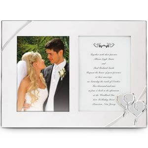 Lenox TRUE LOVE SILVER PLATED DOUBLE INVITATION FRAME 9 in