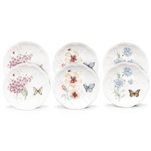 Lenox  BUTTERFLY MDW DW PARTY PLATES S/6 6 in d