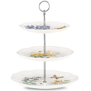 Lenox  BUTTERFLY MDW DW 3 TIERED SERVER 13.5 h