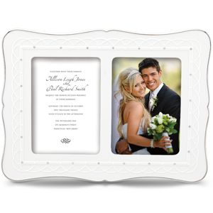 Lenox  BLISS DOUBLE 5X7 INVITATION FRAME 10.5 h