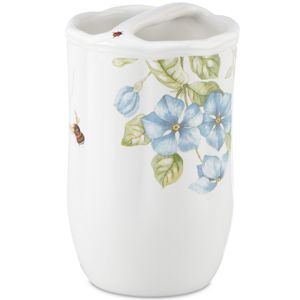 Lenox  BLUE FLORAL GARDEN TOOTHBRUSH HOLDER 4.75 h