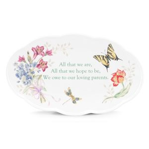 Lenox  BUTTERFLY MEADOW BQT PARENT WEDDING PL 11 l,6.6 d