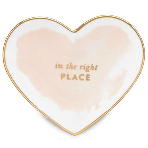 Kate Spade POSY COURT SM HEART DISH BLUSH