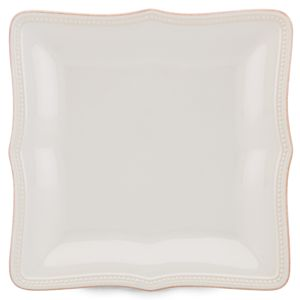 Lenox  FRENCH PERLE BEAD WHT DW SQ DINNER 10.75 d