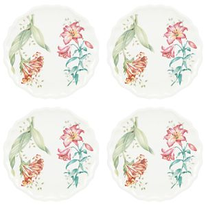 Lenox BUTTERFLY MEADOW MELAMINE DW ACCENT PLATE Set of 4