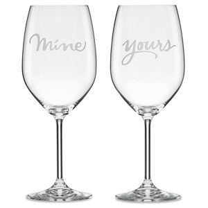 Kate Spade TWO OF A KIND MINE & YOURS WINE SET