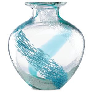 Lenox  SEAVIEW BUBBLE SWIRL VASE 9.5 in h