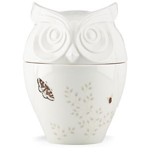 Lenox  BUTTERFLY MEADOW FIG OWL COOKIE JAR 9.5 h