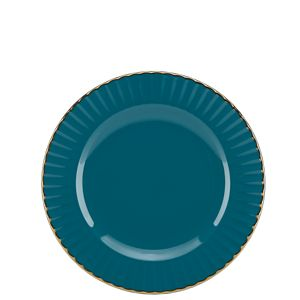 Marchesa MARCHESA SHADES TEAL DW PARTY PLATE