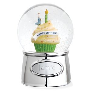 REED AND BARTON PERSONALIZED HAPPY BIRTHDAY WATERGLOBE