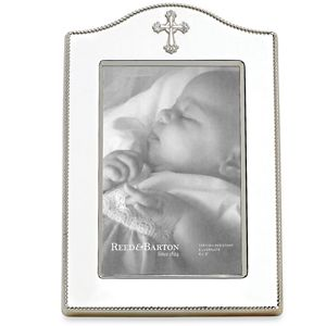 REED AND BARTON PERSONALIZED ABBEY CROSS FRAME 4X6