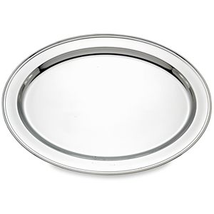 REED AND BARTON PERSONALIZED BENCHMARK OVAL TRAY 22.0