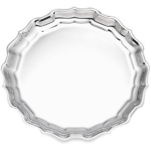 REED AND BARTON PERSONALIZED CHIPPENDALE ROUND TRAY 12.0