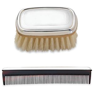 REED AND BARTON PERSONALIZED GALLERY BOYS BRUSH & COMB