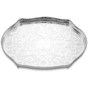 REED AND BARTON PERSONALIZED GALLERY OVAL TRAY