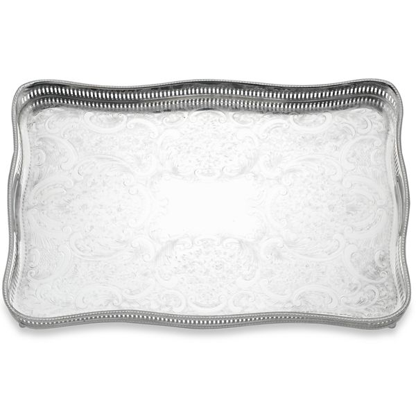 REED AND BARTON PERSONALIZED GALLERY RECT TRAY