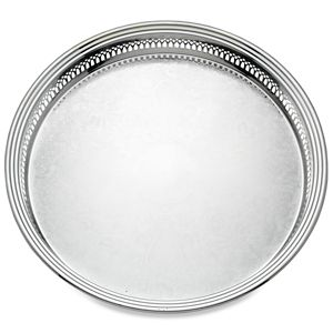 REED AND BARTON PERSONALIZED GALLERY ROUND TRAY (373)