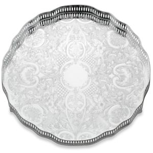 REED AND BARTON PERSONALIZED GALLERY ROUND TRAY 12.0