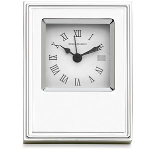 REED AND BARTON PERSONALIZED CLASSIC CLOCK 3 1/4 X 4 3/4