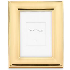 REED AND BARTON PERSONALIZED NEWTON GOLD FRAME 4X6