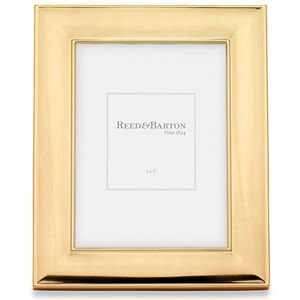 REED AND BARTON PERSONALIZED NEWTON GOLD FRAME 5X7