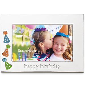 REED AND BARTON PERSONALIZED HAPPY BIRTHDAY PICTURE FRAME 4X6