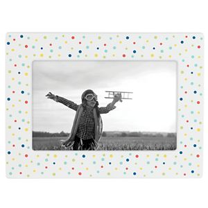 REED AND BARTON ZOOM ZOOM POLKA DOT 4X6 FRAME