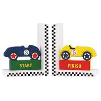 REED AND BARTON RACECAR BOOKENDS