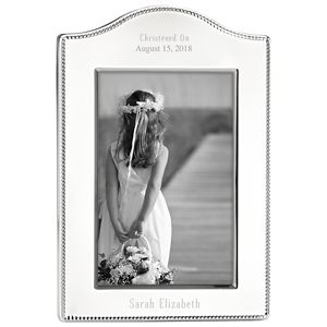 REED AND BARTON PERSONALIZED LYNDON  CURVED  FRAME 4X6