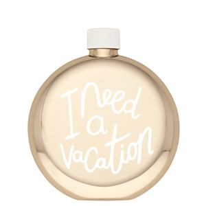 Kate Spade ALL THAT GLISTENS I NEED A VACATION FLASK