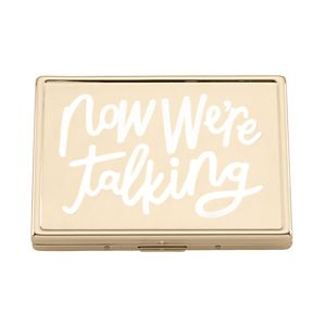 Kate Spade ALL THAT GLISTENS NOW YOURE TALKING ID HOLDER