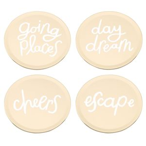 Kate Spade ALL THAT GLISTENS PHRASES COASTERS S/4