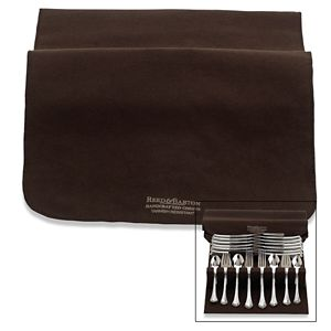 REED AND BARTON DRAWER LINER PAD-BROWN SILVER CLOTH