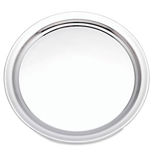 REED AND BARTON CLASSIC STAINLESS STEEL ROUND TRAY 12.0