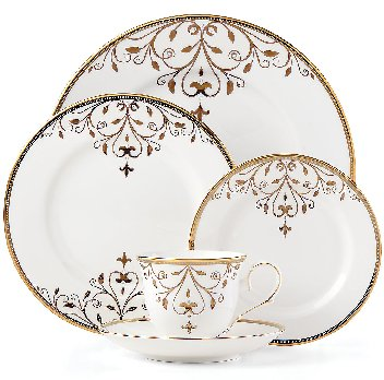LENOX OPAL INNOCENCE SCROLL GOLD Dinnerware