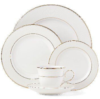 LENOX OPAL INNOCENCE STRIPE GOLD Dinnerware