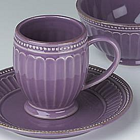 LENOX FRENCH PERLE GROOVE LAVENDER