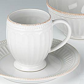 LENOX FRENCH PERLE GROOVE WHITE