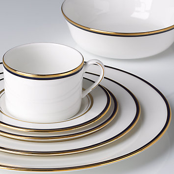Kate Spade LIBRARY LANE NAVY DINNERWARE