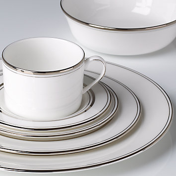 Kate Spade LIBRARY LANE PLATINUM DINNERWARE