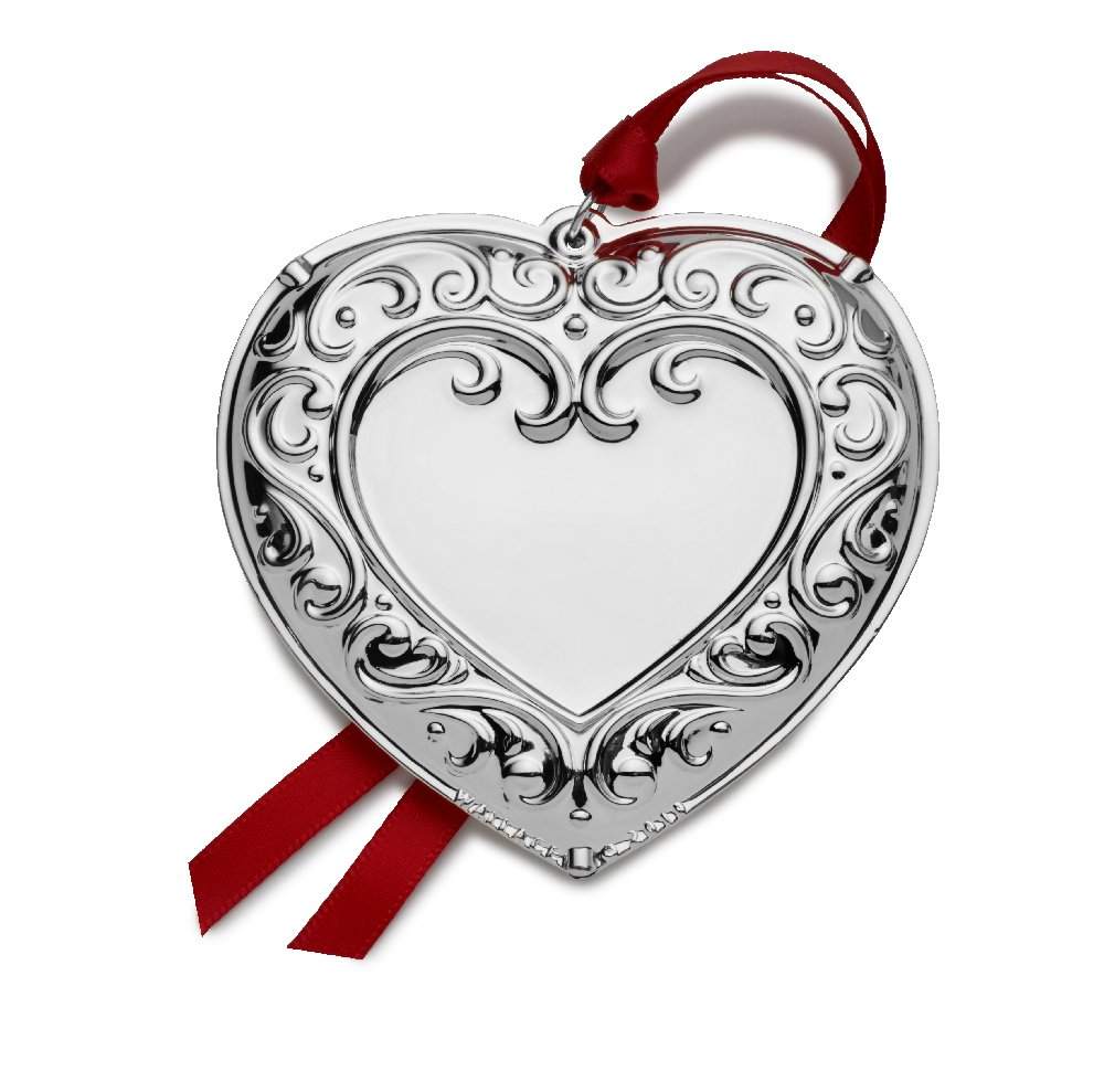Wallace 2019 Silverplated 7th Edition Annual Engravable Ornament - Heart